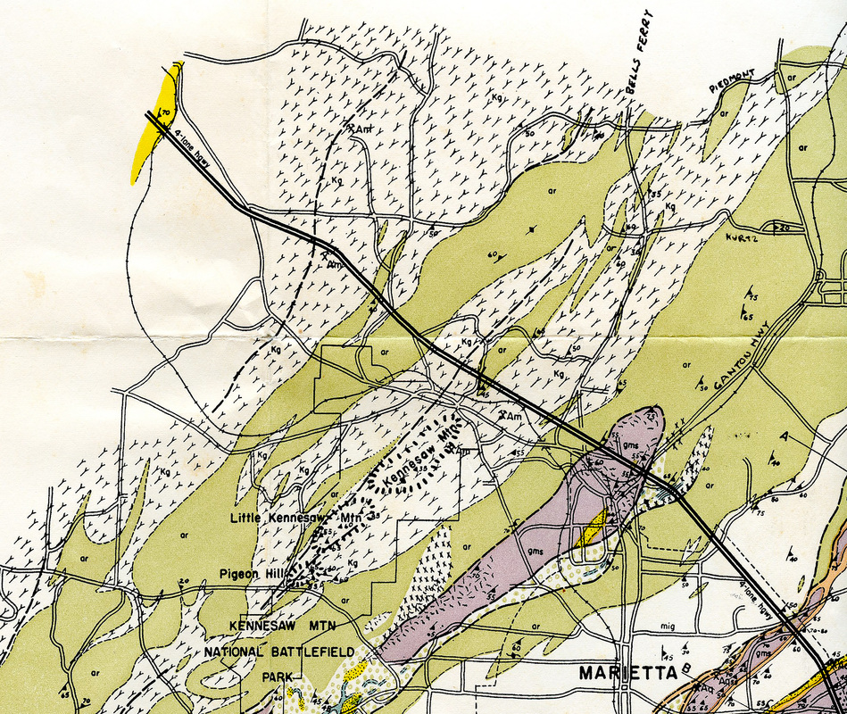 Geologic Map Of Georgia.Amphibolite Hurst 1956 Scott Ranger S Nature Notes